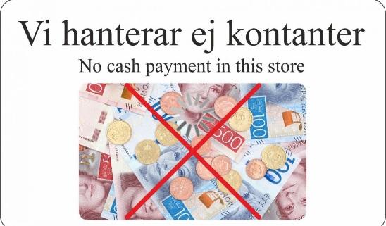 Ej kontanter